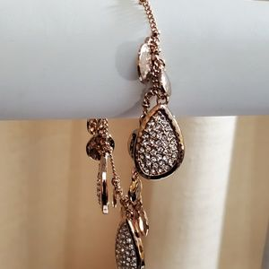 Ann Taylor Rose Gold Rhinestone Bracelet #530
